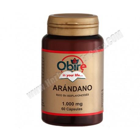 Arándano - 1000mg - 60 cápsulas - rico en bioflavonoides