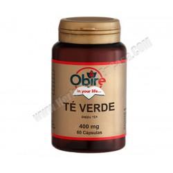 Té Verde (thea sinensis foglie) 400 mg 60 cápsulas. Obire