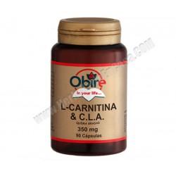 L-Carnitina + CLA  350 mg  90 cápsulas. OBIRE
