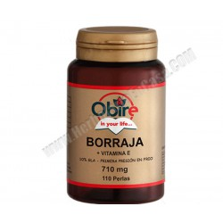 Borraja + Vitamina E - 710 mg - 110 perlas. Obire