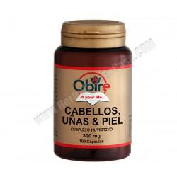 Cabellos y Uñas . Levadura y Selenio . 100 capsulas. Obire