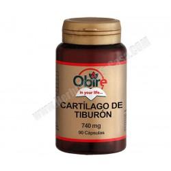 Cartilago de Tiburon -740mg - 90 cápsulas. Obire