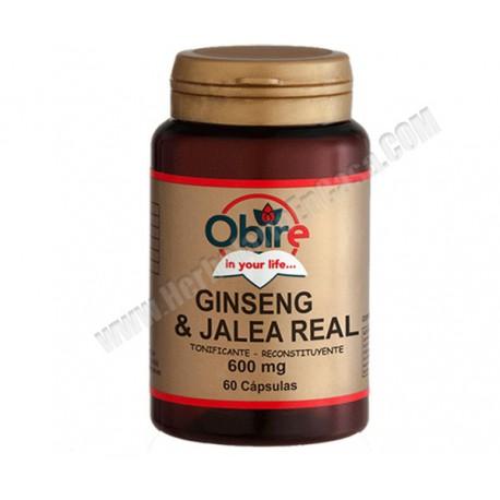 Ginseng + Jalea Real - 600mg - 60 cápsulas