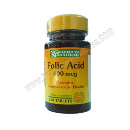 Ácido Fólico 400 mcg 250 comprimidos GOOD´N NATURAL