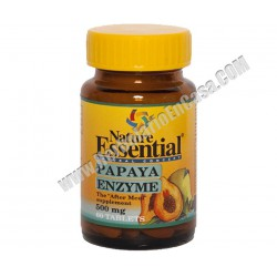 Papaya Enzyme 500 mg - 60 comprimidos. - Nature Essential