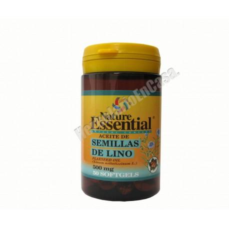 Aceite de semillas de lino + vitamina E (10 mg) - 500mg 50 perlas