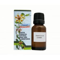 Lavanda - Aceite esencial natural 17ml. Apto para uso alimentario. Granadiet