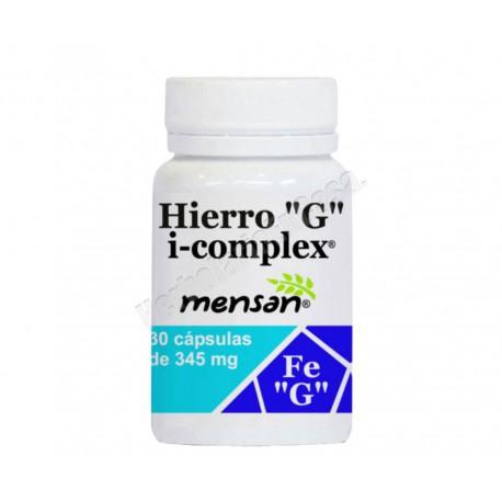 Hierro ``G´´ i-complex 30 cápsulas de 345mg. Mensan