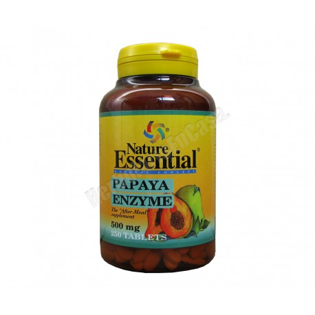 Enzyme Papaya 500mg 250 comprimidos Nature Essential