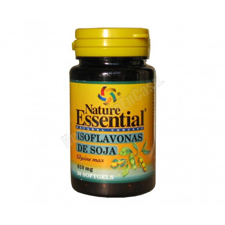 Isoflavonas de soja 50 perlas de 610mg - Nature Essential
