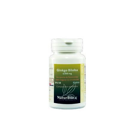 Ginkgo biloba 6.000mg 60 comprimidos - Naturbite