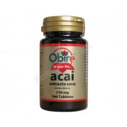 Acai (euterpe oleracea) (extracto seco) 100 comprimidos - Obire