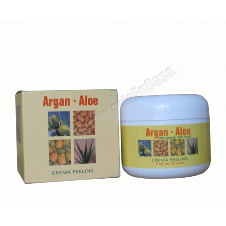 Crema peeling facial 120ml. Argan - Aloe