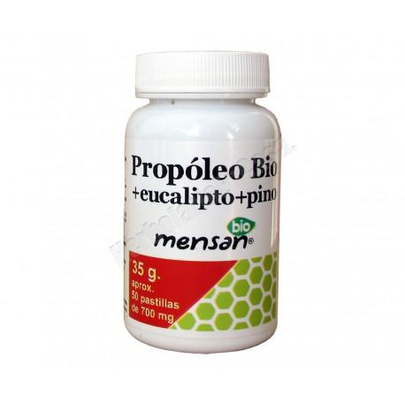Propoleo Bio Eucalipto+ y Pino 50 pastillas para chupar - Mensan