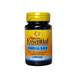 Omega 3-6-9 1000mg 30 perlas - Nature Essential