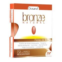 Bronze Natural - perlas del sol - 30 perlas - Drasanvi