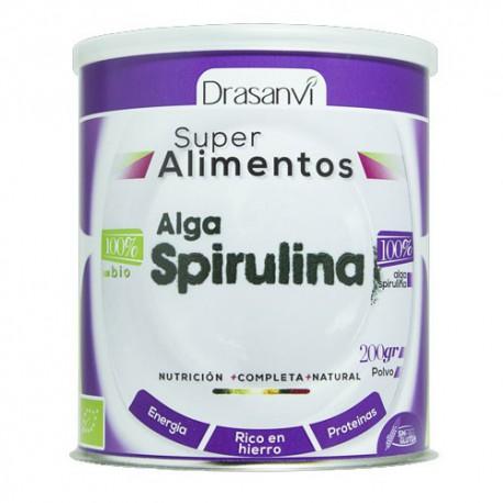 Alga Spirulina Bio 100% en polvo 200 gramos - Drasanvi