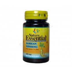 Ginseng Koreano 400mg 50 cápsulas - Nature Essential