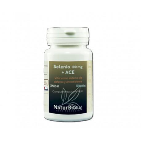 Selenio 200mcg + Vit. A, C y E 60 comprimidos - Naturbite