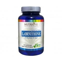 L-Ornitina 500mg 90 cápsulas vegetales - Nutrione