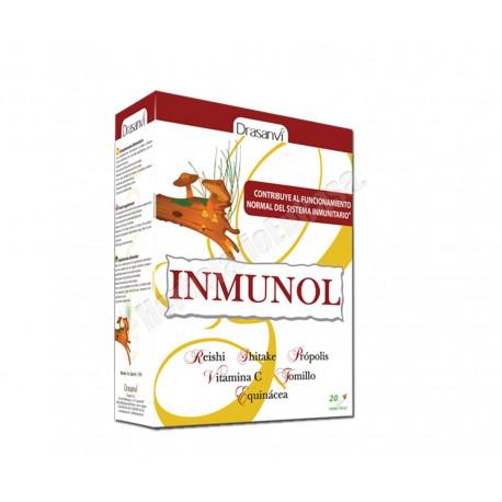 Inmunol 20 viales Drasanvi(reishi, shitake, própolis, vitamina C, tomillo y equinácea)
