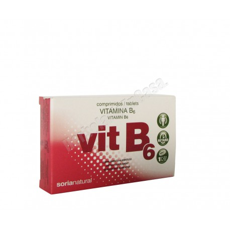 Vitamina B6 48 comprimidos de 200mg - Soria Natural