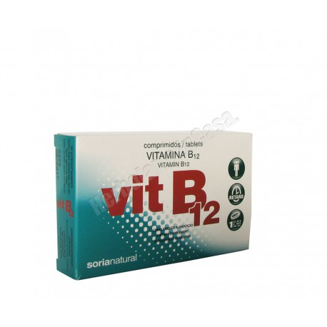 Vitamina B12 48 comprimidos de 200mg - Soria Natural