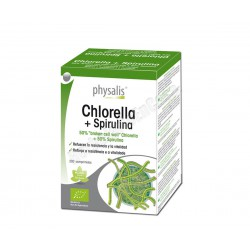Chlorella (pared celular rota) + Spirulina 200 comprimdos - Physalis