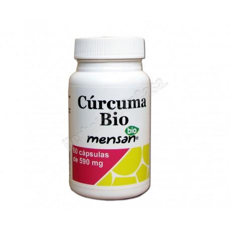 Curcuma Bio 60 cápsulas vegetales de 590mg - Mensan