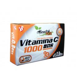 Vitamina C 1000 con bioflavonoides 60 cápsulas - Health Plus VitOBest