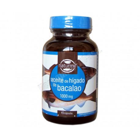 Aceite de Hígado de Bacalao 1000mg 45 cápsulas - Dietmed Naturmil