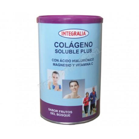 Colágeno soluble Plus 360 gramos.Sabor Frutas del bosque, Integralia.