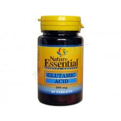 Acido glutámico 500mg 50 comprimidos - Nature Essential