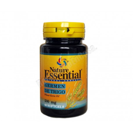 Germen de trigo 500mg 60 perlas - Nature Essential