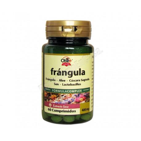 Frángula Fórmula Complex Obire con aloe, cáscara sagrada, sen y lactobacillus