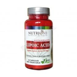 Acido Alfa Lipoico 250mg 60 cápsulas vegetales - Nutrione