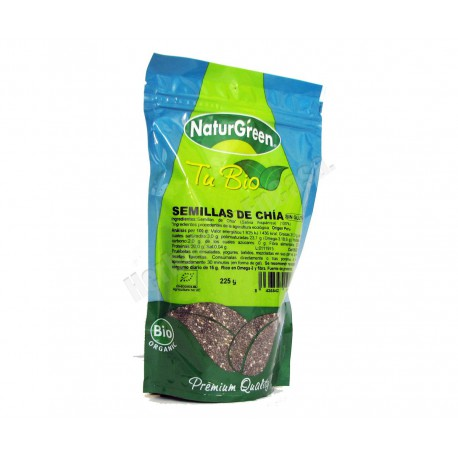 Semillas de chia Ecológica 225 gramos - Naturgreen