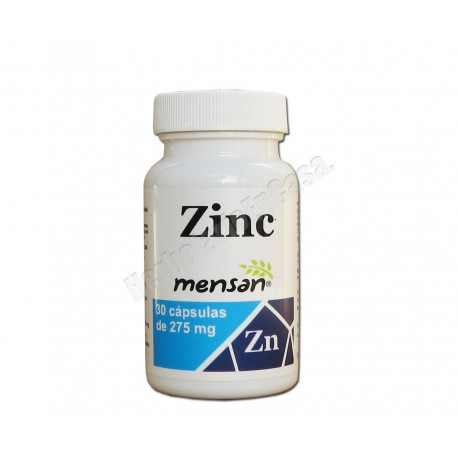 Zinc 30 cápsulas de 275mg - Mensan