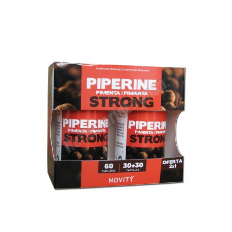 Piperine Pimienta Strong 30+30 cápsulas - Novity