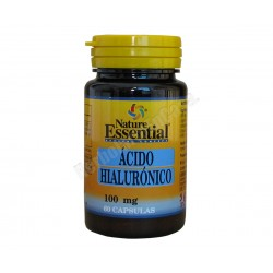 Acido hialurónico 100mg + Vitamina C. 60 cápsulas - Nature Essential