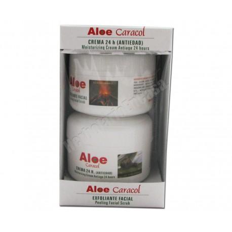 Duplo Aloe-Caracol (crema 24h antiedad  100ml + peeling 100ml)
