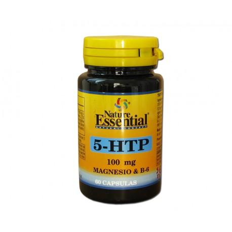 Triptofano 5 HTP 100mg + Magnesio + Vitamina B6 60 cápsulas. Nature Essential