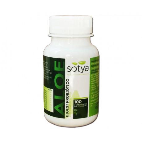 Aloe Vera Plus. Digest Probiótico 100 comprimidos masticables de 1 gramo. Sotya