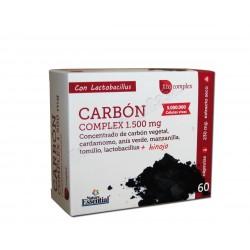 Carbón Complex con Cardamomo, Anís Verde, Manzanilla, Tomillo, Lactobacillus e Hinojo