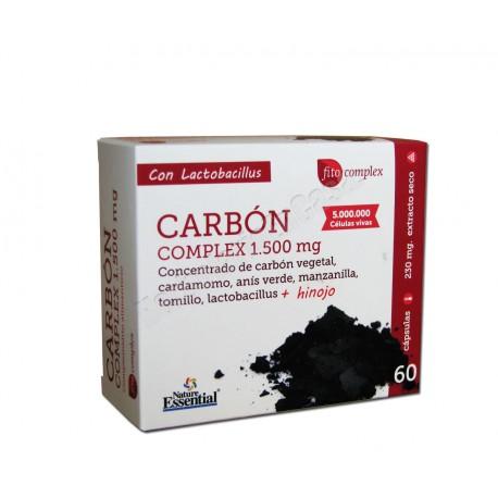 Carbón Complex con Cardamomo, Anís Verde, Manzanilla, Tomillo, Lactobacillus y Hinojo