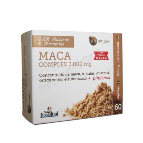 Maca Complex 3000mg 60 capsulas. Nature Essential. Fito Complex