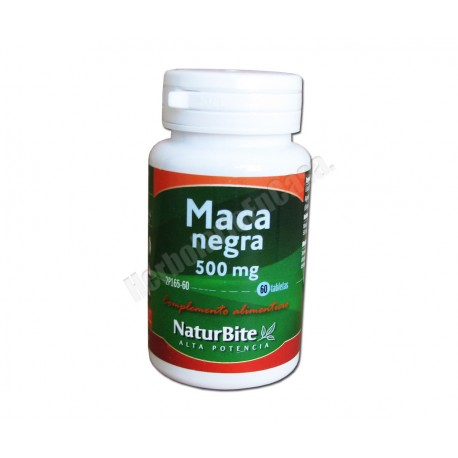 Maca Andina Negra 500mg 60 comprimidos - Naturbite
