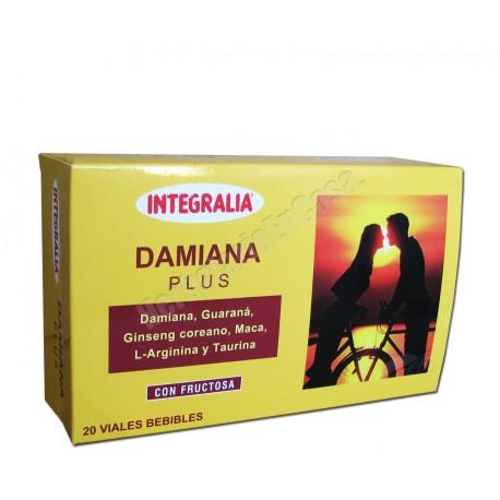 Damiana Plus Con Guaraná, Ginseng Coreano, Maca, L-Arginina y Taurina. Integralia