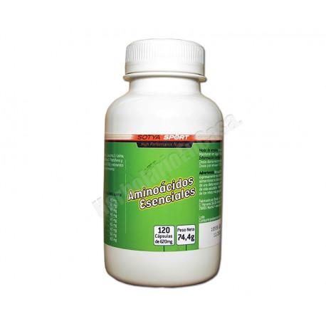 Aminoácidos esenciales 120 cápsulas de 620mg. Sotya