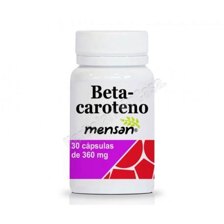 Betacaroteno 30 cápsulas de 360mg. Mensan